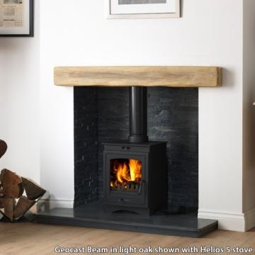 Gallery Geocast Light Oak Effect Fireplace Beam Flames Co Uk